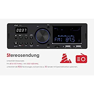 41zhOO%2BpEGL. SS300  - ieGeek-Car-Radio-Bluetooth-Handsfree-Dual-LCD-Display-with-Clock-MW-and-FM-RDS-Radio-Data-System-Stereo-Car-Radio-30-Memory-Spaces-USBAUX-Input-MP3-FLACSD-Card