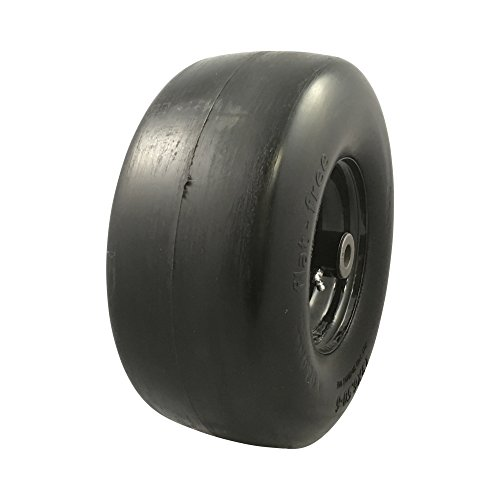 MARASTAR 00242 Universal Fit Flat Free 13x6.50-6 Lawnmower Tire Assembly by MARASTAR