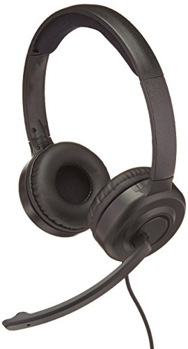 AmazonBasics Padded USB Headset Noise canceling
