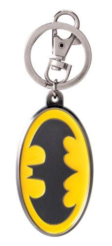 DC Batman Colored Logo Pewter Key Ring
