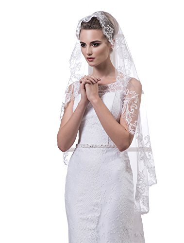 "Bridal Veil Fiona from NYC Bride collection (short 30"", ivory) by NYC Bride"