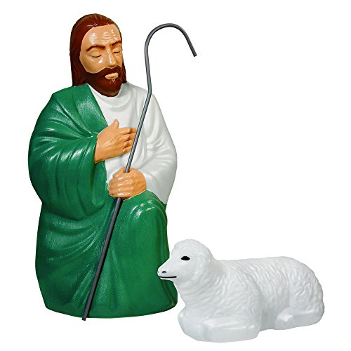 Nativity Scene Shepherd Sheep Lights