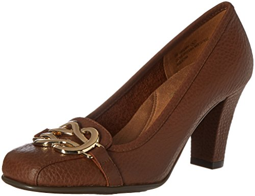Aerosoles Womens enrollment Dress Pump Dark Tan Leather ExbZMPo