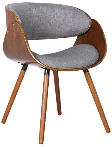 "Container Direct Plywood Dining Chair with Wrap Around Back, Regular - A Conversation Piece: The Dining Chair Is a True Conversation Starter, The Chair Measures 29.5""H x 20.5""W x 21""D with a Seat Dimension of 17.5""H.The Chair Arrives with Assembly Required Exceptional Construction: The Chair is Made with Plywood for a Base, Solid Wood Round Mid Century Modern Splayed Legs and Padded with Polyurethane Foam for a Comfortable Dining Experience One Chair: The Listing is for a Single Dining, Accent or Study Chair That Arrives with Assembly Required and Features a Twill Patterned Upholstered Fabric Built Upon a Sturdy and Gorgeous Curved Base - kitchen-dining-room-furniture, kitchen-dining-room, kitchen-dining-room-chairs - 41zhPN6bR5L -"