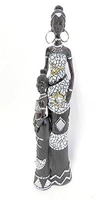 African Queen Figurine Sculpture 12 Inch