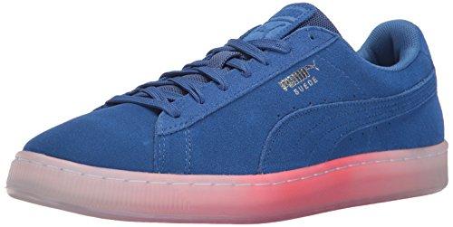Puma Suede Classic Explosive - Zapatillas de Piel para hombre Puma Black-Blue Danube True Blue-bright Plasma