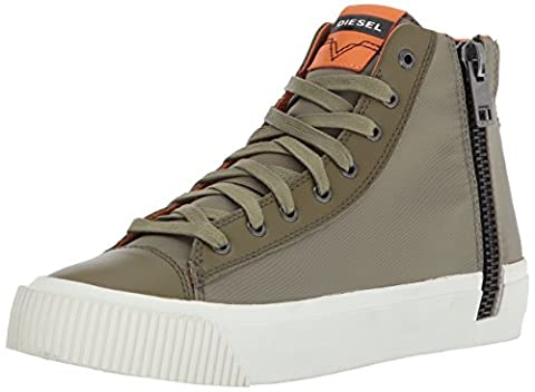Diesel Men's Zip-Turf S-Voyage Mid Sneaker, Burnt Olive, 9 M US (Men Diesel Top)