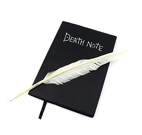 L-zonc 135 Pages Death Note Notebook with Feather Pen (Best Anime Like Death Note)