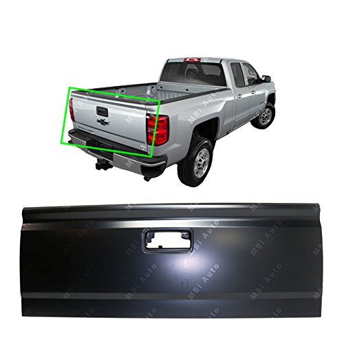MBI AUTO - Primered, Steel Tailgate Shell for 2014-2019 & 2015-2016 2500HD 3500HD Chevy Silverado & GMC Sierra, GM1900127