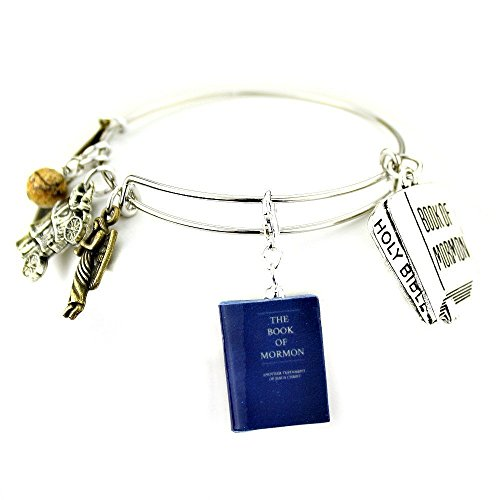 BOOK of MORMON Another Testament of Jesus Christ Clay Mini Book Bangle Bracelet by Book Beads SALE