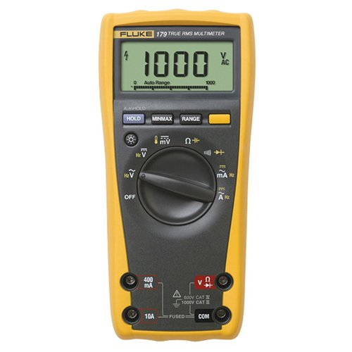 Kit 179 (Fluke 179/TPAK True RMS Digital Multimeter with TPAK Meter Hanging Kit, 50 Megaohm Resistance, 1000V AC/DC Voltage, 10A AC/DC Current)
