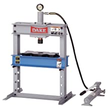 "Dake B-10 Model Manual Utility Hydraulic Bench Press, 10 Ton Capacity, 23"" Length x 18"" Width x 36"" Height"
