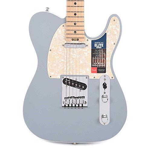 - Fender American Elite Telecaster Electric Guitar (Satin Ice Blue Metallic, Maple Fingerboard)