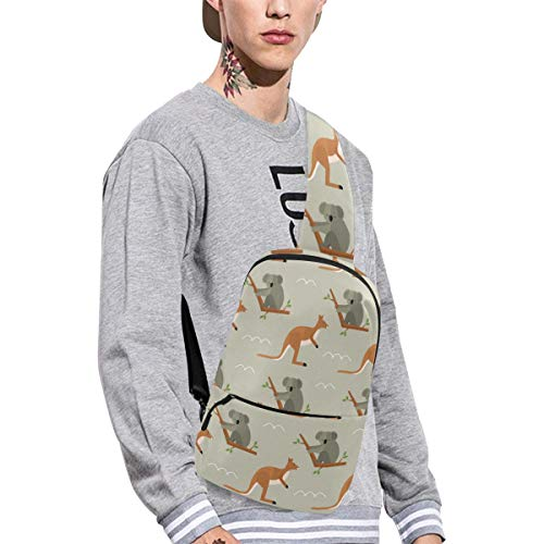 Sling Shoulder Bag Fashion Kangaroo Animal Natural Wild Cute Crossbody Bag Daily Sports Climbing Or Multi-purpose Backpack Men And Women Ladies And Teens ()