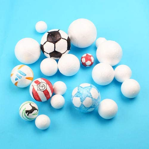 Crafare 28pc 2 Inch White Smooth Styrofoam Balls Polystyrene Ball for Holiday Spring Crafts Making and School Arts Projects