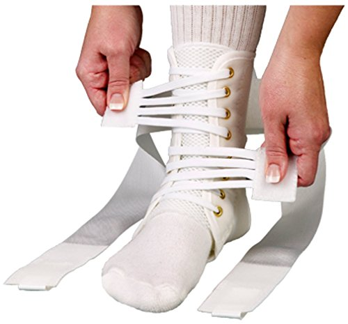 ASO Speed Lacer Ankle Brace (Medium - White)