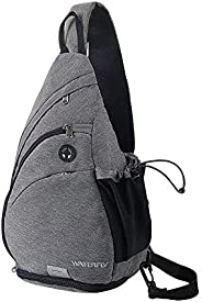 WATERFLY Sling Bag Sling Backpack Crossbody Shoulder Bag for Men Women Traveling Cycling Hiking Daypack