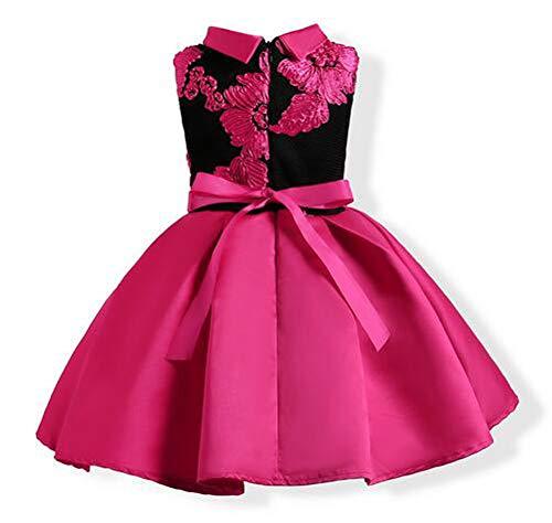 Tueenhuge Little Girls Sleeveless Flower Ruffles Lace Party Wedding Bridesmaid Dress by Tueenhuge (Image #1)