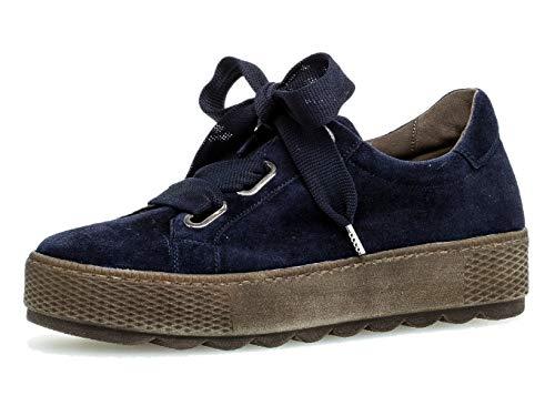 Gabor Damen Low-Top Sneaker, Frauen Schnürhalbschuhe,lose Einlage,Mehrweite (G)