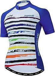 Weimostar Women's Cycling Jersey Short Sleeve Bike Biking Shirts Full Zipper Bicycle