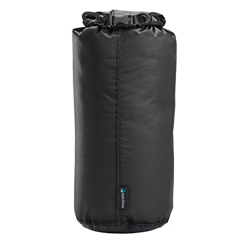 LiteSak Waterproof Lightweight Dry Bag | Keeps Gear Safe & Dry During Watersports & Outdoor Activities | Made from Ultra Strong Silicone-Coated Nylon & Weighs Less Than 3 Oz. (Black 2.0, 10 Liter) - Bear Lights Out