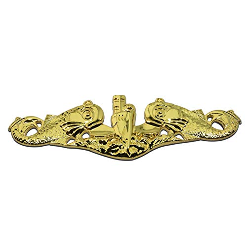 Submarine Warfare Gold Officer Metal Auto Emblem