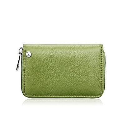 ZipCoV - Monedero de plástico para Mujer, Color Verde ...
