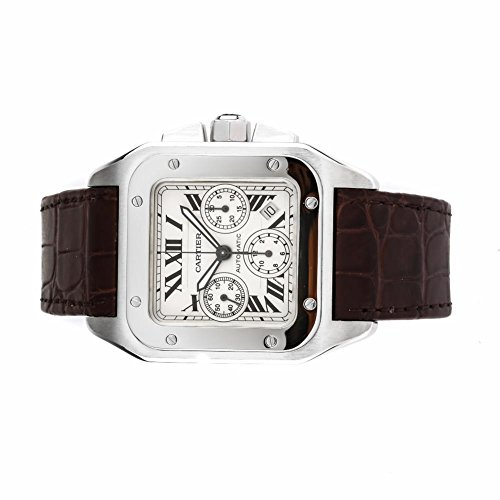 Cartier-Santos-100-automatic-self-wind-mens-Watch-W20090X8-Certified-Pre-owned