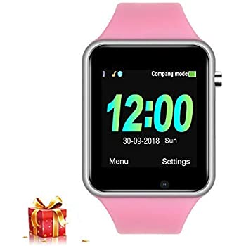 JACSSO Smart Watch, Smart Watches for Girls Women, Bluetooth Smartwatch with Camera SIM TF Card Slot, Gift Smart Wrist Watch Compatible with Android Phone ...