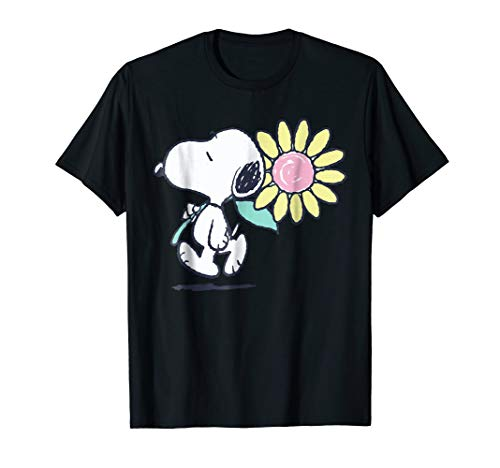 Peanuts Snoopy Pink Daisy Flower T-shirt for Adults and Kids
