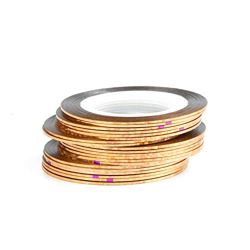 30Pcs 30 Multicolor Mixed Colors Rolls Striping Tape Line Nail Art Decoration Sticker Diy Nail Tips,Laser Bronze
