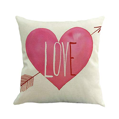 scamper Throw Pillow Covers,Pillowcase Valentine's Day Love Letter Words Pillow Case Sofa Car Cushion Cover Linen 45 45Cm