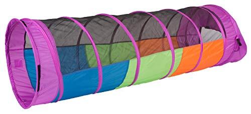 Pacific Play Tents Kids Peek-A-Boo I See You 6 Foot Crawl Tunnel - Multicolor & Mesh (Peek Tube)