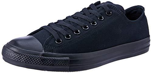 Converse Unisex Chuck Taylor All Star Low Top Black Monochrome Sneakers - 12 B(M) US Women / 10 D(M) US Men (Converse Chuck Taylor All Star Black Monochrome)