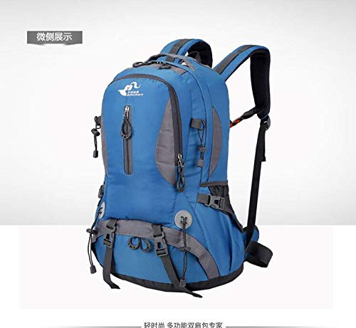 Male Backpack Mountaineering Capacity Bag Riding Outdoor Camping Travel Hiking Waterproof Grossartig Female 50l Blue Sports New Large RwPxSSqY