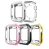 Compatible with Apple Watch Case Series 4 40mm,5 Pack New iWatch TPU Cases Protective Cover Bumper Compatible with 2018 Apple Watch Series 4 (40mm-5Pack)