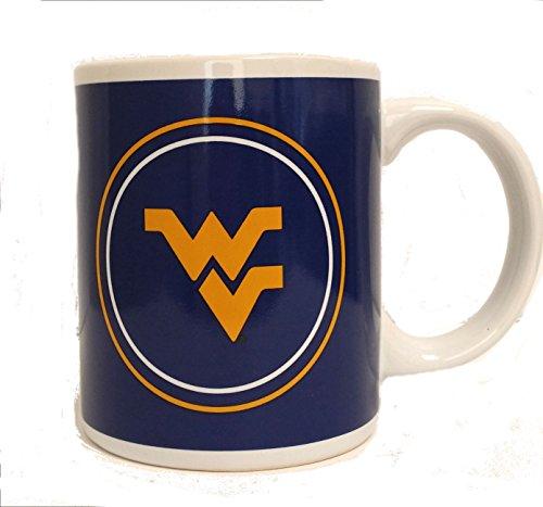 West Virginia Mountaineers Ceramic - NCAA West Virginia 11 oz. White Ceramic Coffee Mug with Team Colors and Logo