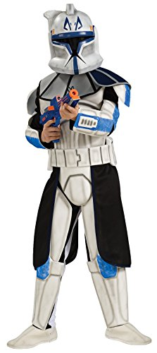 Deluxe Clonetrooper Costumes (UHC Boy's Clonetrooper Rex Deluxe Kids Child Fancy Dress Party Halloween Costume, S (4-6))