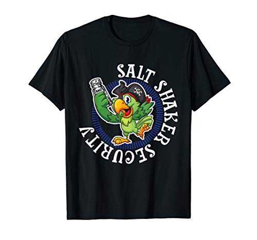 Salt Shaker Security Pirate Head Parrot Funny Concert TShirt T-Shirt
