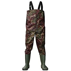 Kglobal waterproof fishing waders and boots for Fishing waders amazon