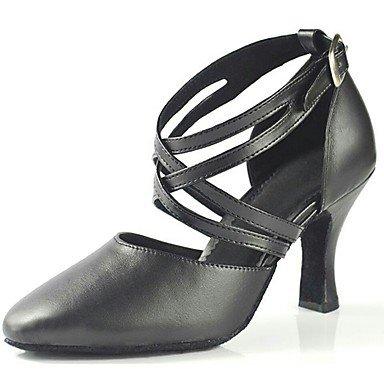 Zapatos de Black baile Stiletto Latino Negro Personalizables Tacón xx6Rwv