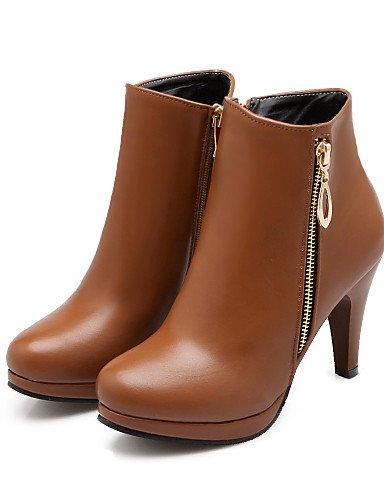 Yellow Zapatos Amarillo Black 5 Uk8 Puntiagudos Negro Mujer Botas us10 A 5 Stiletto Moda De 5 La Vestido Xzz Tacón Eu42 us10 Semicuero Cn43 Fx1qn66d