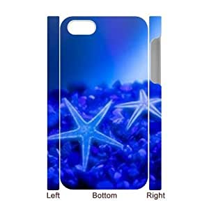3D Bumper Plastic Case Of Starfish customized case For Iphone 4/4s