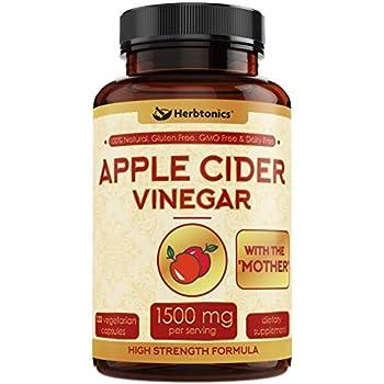 Amazon.com: Real Herbs Apple Cider Vinegar 750mg - Detox