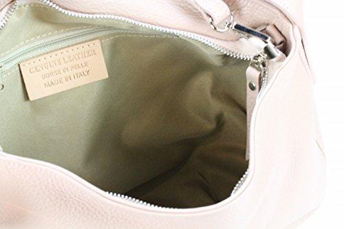 4fe760a946f2d ... Bozana Bag Ida Rose Powder Italy Designer Damen Handtasche  Schultertasche Ledertasche Tasche Wildleder Prägung Shopper Neu