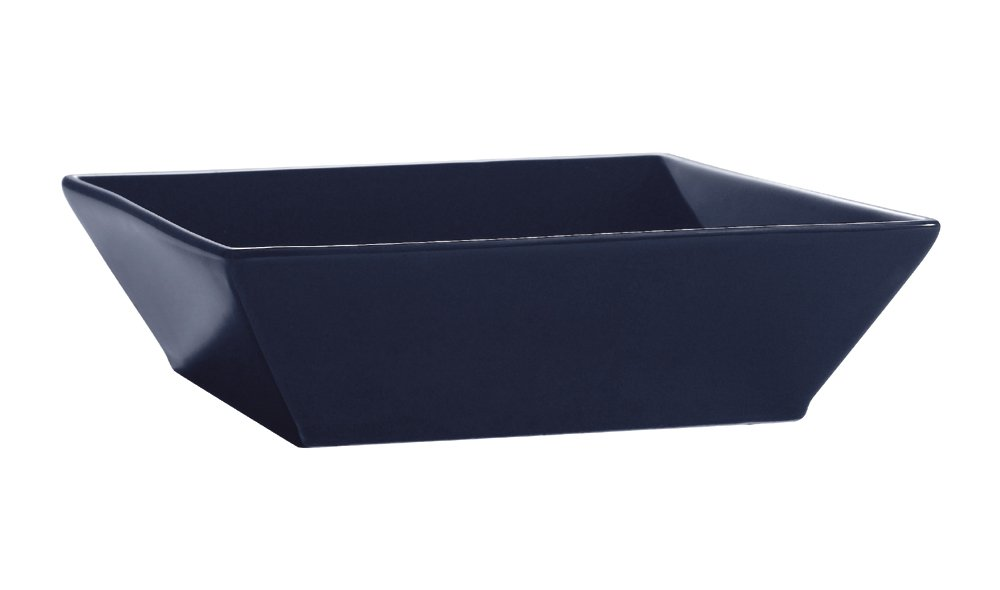CAC China KC-B6-CBU Color Arts 6-Inch Stoneware Square Bowl, 15-Ounce, Cobalt Blue, Box of 24
