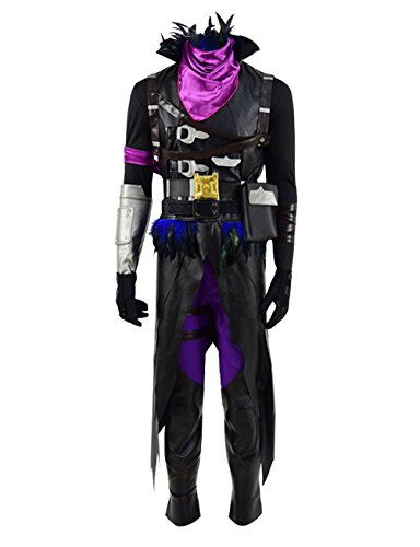 Qi Pao Hot Game Figure Heroes Cosplay Costume Halloween Battle Outfit (Big Boys 10, Raven)