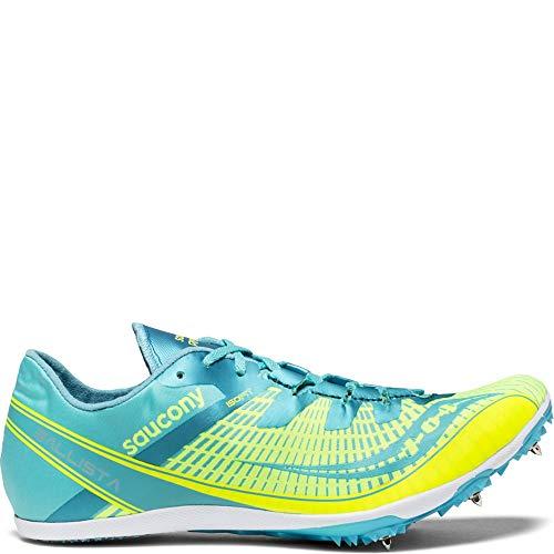 Saucony Women's Ballista 2 Track and Field Shoe, Grey/Blue, 10.5 Medium US