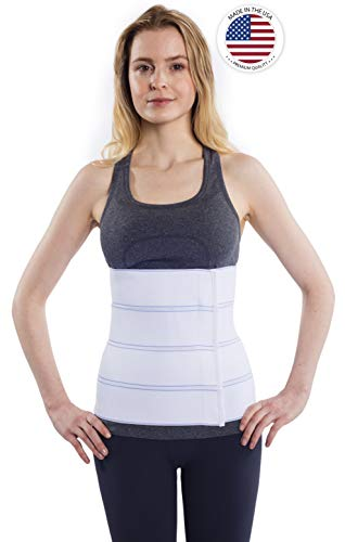 """NYOrtho Abdominal Binder Lower Waist Support Belt - Compression Wrap for Men and Women (45"""" - 60"""") 4 Panel - 12"""""""