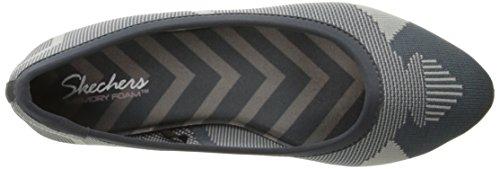 Charcoal Skechers Ballet Flat Wham Cleo Women's Gray Knit Grey rqnrY1
